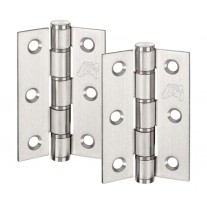 Door Hinge Pairs for internal doors Satin Stainless Steel Washered 3 Inch / 75mm H02304S