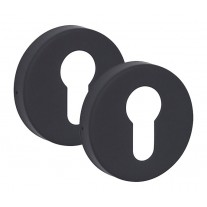Euro Escutcheon keyhole Cover Pair in Matte Black Finish 10mm A8510BP