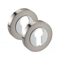 Euro Lock Escutcheon Pair with Dual Chrome Finish D8510DZ