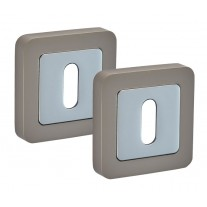 Square Escutcheon Pair with Duo Satin Chrome Finish F8310DSC