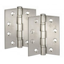 Satin Stainless Steel Front Door Hinge Pairs CE Stamped 4 Inch / 100mm H02401S
