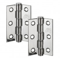 Washered Butt Hinge Pair 3 Inch in Polished Stainless Steel H303P