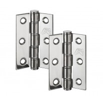 Washered Butt Hinge Pair 3 Inch in Polished Stainless Steel H02304P