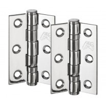 Door Hinge Pairs for internal doors Polished Stainless Steel 3 Inch / 75mm H02303P