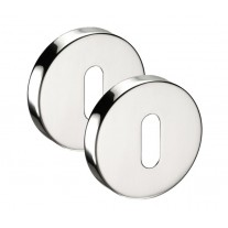 Stainless Steel Keyhole Escutcheon 10mm Pair A8611P