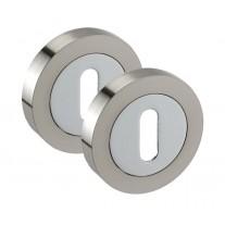 Chrome Standard 10mm Keyhole Escutcheon Pairs A8631D