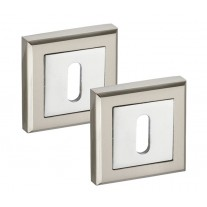 Square Sandard 10mm Keyhole Escutcheon Duo Pairs A8641D