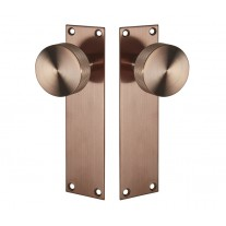 Knurled Knob on Backplate with Copper Finish J70011CU