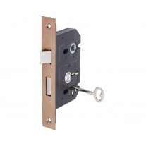 3 Lever Mortice Lock for Internal Doors 63mm / 45mm Copper L5145CU