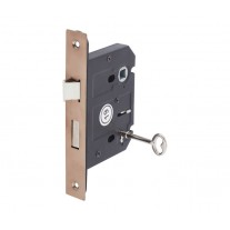 3 Lever Mortice Lock for Internal Doors 76mm / 57mm Copper L5157CU