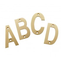 Front Door Letters 3 Inch Satin Brass Letters A-D X21310SB