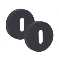 Matte Black Escutcheon Pair 10mm Standard Profile A8310BP