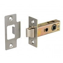 Bolt through Tubular Mortice Door Latch 63mm Satin Nickel Plated L22163NP