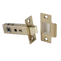 Bolt through Tubular Mortice Door Latch 76mm Polished Brass L22176PB