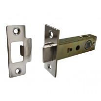 Bolt through Tubular Mortice Door Latch 76mm Polished Chrome L22176PC