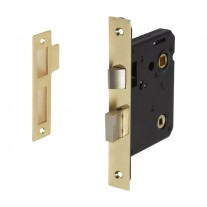 Polished Brass Bathroom Door Locks 76mm / 57mm Backset L5057PB