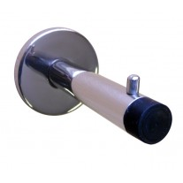 Polished Stainless Steel Coat Hook 90mm Cylindrical Buffered C4004P