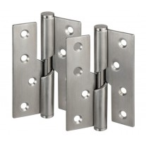 4 Inch Rising Butt Hinges - Left Handed Stainless Steel H02403L