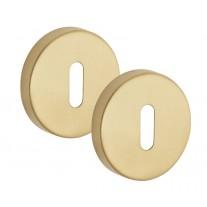 Satin Brass Escutcheon Pair 10mm Standard Profile A8310SB