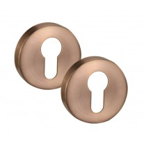 Satin Copper Euro Escutcheon Pair 10mm A8510SCU