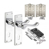 Internal Door Handle Packs with Scroll Lever Handles on Lock Backplate H751012P HL1