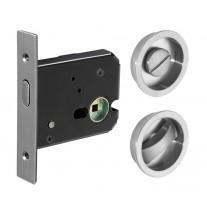 Sliding Door Lock in Satin Stainless Steel Finish X89001S