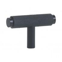 Matte Black Knurled T Bar Handle 50mm X88026BL