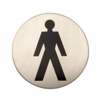 Adhesive Male Toilet Sign Satin Stainless Steel X22101S