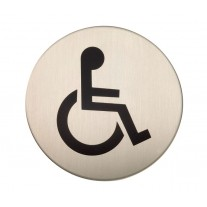 Adhesive Disabled Toilet Sign Satin Stainless Steel X22103S