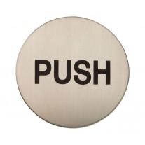 Adhesive Push Door Sign Satin Stainless Steel X22108S