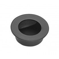 Matte Black Round Flush Door Handle 30mm X88100BL