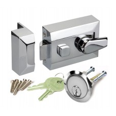 night latch front door lock with polished chrome finish l11160pc
