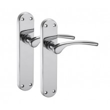Chrome Door Handles on Backplate with Polished Chrome Finish H750311P