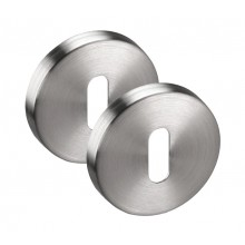 Stainless Steel Keyhole Escutcheon 10mm Pair A8611S