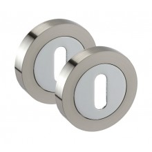Chrome Standard 10mm Keyhole Escutcheon Pairs A8631D