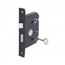 3 Lever Lock for Internal Doors 76mm / 57mm Matte Black L5157BL