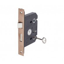3 Lever Mortice Lock for Internal Doors 76mm / 57mm Copper L5157CU
