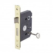 3 Lever Mortice Sash Lock 76mm / 57mm Polished Brass L5157PB