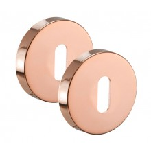 Copper Keyhole Escutcheons Keyhole Cover Plates Pair A8611CP