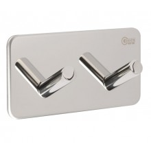 Robe Hooks with Double Hook and Polished Stainless Steel Finish C4009P