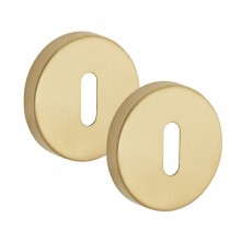 Satin Brass Escutcheon Pair 10mm Standard Profile A8310SB