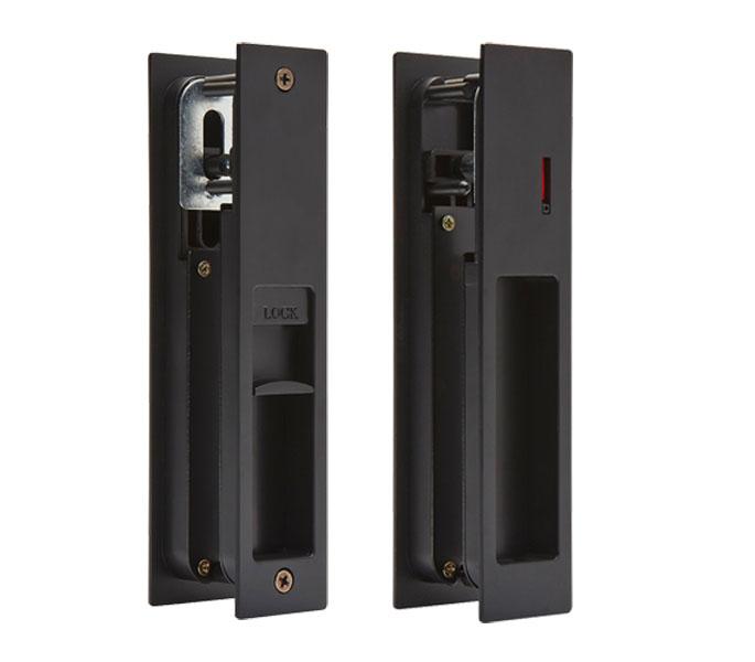 Sliding Door Lock With Indicator For Bathroom Door Matte Black Handle King Uk